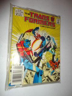 Vintage Transformers Comic book Magazine Vol 1 No 1 Jan 1987 find me at www.dandeepop.com
