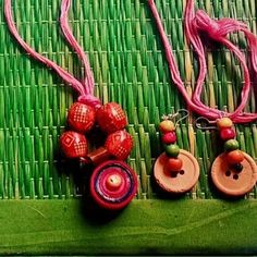 Handmade jewellery using beads buttons and quilling paper..... Message for purchase or custom designs