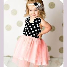 Minnie Mouse Pink Dress, First Birthday Party Ideas, Girl Minnie Mouse Dress