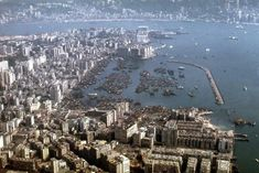 1971 Over Central Kowloon - Landing Kai Tak 5 Kai Tak Airport, British Hong Kong, World Cities, This Is Love, View Map, Old Photos, Paris Skyline, City Photo, History