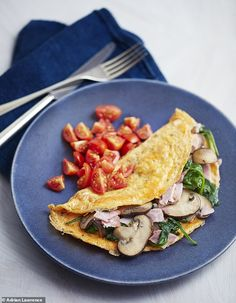 Dr Michael Mosley shares his simplest ever diet breakfast recipes, from omelettes and poached eggs to granola and porridge. Spinach Omelette, Michael Mosley, Egg Recipes, Cooking Recipes, Healthy Recipes, Drink Recipes, Diet Breakfast, Breakfast Recipes, Breakfast