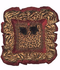 Leopard and Tiger prints never go out of style. We added a pop of red to this Luxury Accent Pillow and then finished it off with black feather tassels!