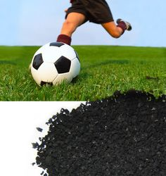 Providing optimal traction and super bounce, Crumb Rubber keeps athletes safe while helping them play a better game. Tyres Recycle, Recycled Tires, Playground Rubber Mulch, Field Turf, Super Bounce, Best Games, Soccer Ball, Things That Bounce, Ncaa March