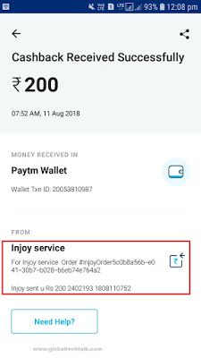 Injoy App Refer And Earn Paytm Cash Proof Added Make Money