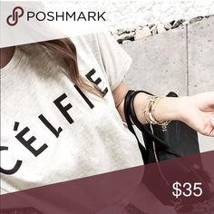 Celfie top Custom made tee Tops Tees - Short Sleeve