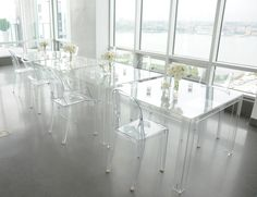 Transparent | 2014: 15 years of Transparency, many icons to celebrate!  In the pic: Victoria Ghost chairs + Invisible table