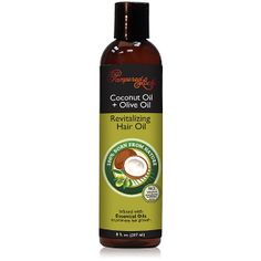 Coconut Oil + Olive Oil Hair Oil $8.99 • Deep-penetrating hair oil treatment boosts shine, softness & elasticity.  • Coconut oil is a natural conditioner that bonds with protein in the hair shaft to strengthen hair and reduce breakage. •  Extra virgin olive oil  provides a smooth finish and lush softness, for more manageable hair. • Infused with four (4) essential oils for hair that stimulate the scalp to promote hair restoration & hair growth. Argan Oil Hair, Hair Oil, Olive Oil Hair, Olive Oils, Cedar Oil, Hair Treatment Mask, Essential Oils For Hair, Hair Restoration, Hair Conditioner