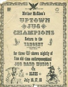 Mother McCree's Uptown Jug Champions poster, July 1964