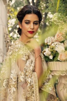 Owning it like a queen.  Ameerah | Wedding Couture'17 Our fairytale collection has finally arrived at the studio! Join in for the preview- Aashima Behl Studio.  #ameerah #indianbride #modernbride #realbride #handcraft #handcraftedindia #shopnow