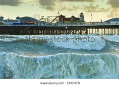 Brighton, England - September 25th 2012: As Severe Weather Hits The Stock Photo, Picture And Royalty Free Image. Pic. 46793735