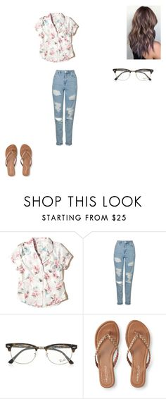 """Untitled #700"" by melissaperez427 on Polyvore featuring Hollister Co., Topshop, Ray-Ban and Aéropostale"
