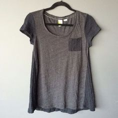 Paper Locket Tops - Anthropologie black and gray sweater back top