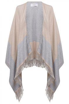 Riani Damen Poncho Beige/Hellgrau   SAILERstyle Kimono Top, Tops, Women, Fashion, Fashion Women, Grey, Clothing, Gowns, Moda