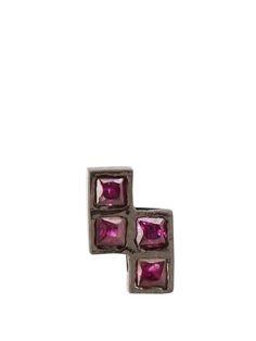 Ruby & oxidised white-gold earring | Ileana Makri | MATCHESFASHION.COM US