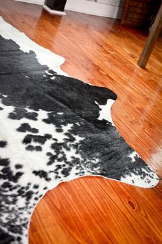 Authentic Brazilian Oversized Black & White Cowhide Rugs