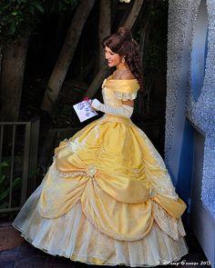 Disney Cosplay yeyfacecharactersdisney — belleieve: Princess Belle (by Disney-Grandpa) - Belle Cosplay, Belle Costume, Disney Cosplay, Disney Costumes, Costume Dress, Robes Disney, Disney Dresses, Disneyland Face Characters, Wedding Robe