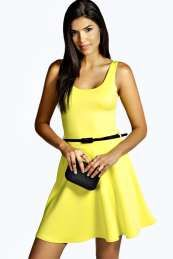 boohoo Scoop Neck Skater Dress - yellow azz46907 A fuss-free take on the fit and flare style, this jersey skater dress is just what every girls wardrobe needs - we want one in every colour! Dress it up with skyscraper heels , a statement necklace an http://www.comparestoreprices.co.uk/dresses/boohoo-scoop-neck-skater-dress--yellow-azz46907.asp