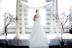 Beautiful Traditional Chuppah. Will be using this at the outdoor ceremony.