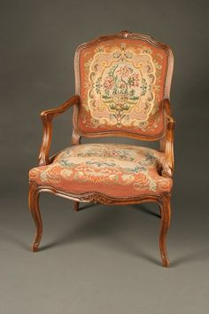 French Louis XV style ladies arm chair, circa 1890. #antique #chairs