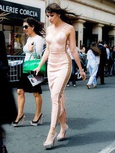 Pale pink pop of lingerie