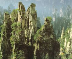 Wulingyuan rocky peaks in China