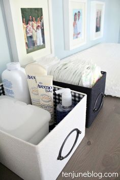 changing table organizing - IKEA