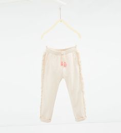 Image 1 of Fringed plush trousers from Zara