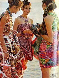 Sundresses in Seventeen. 1970s.