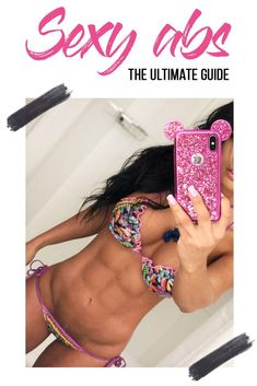 Follow my simple routine to get lean abs fast and easy! Get back in shape before summer! #ablines #howtogetabs #leanabs #abworkout