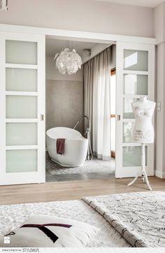 Sypialnia - zdjęcie od Loft Factory na Stylowi.pl Rustic Loft, Bathtub, House Design, Living Room, Bathroom, Inspiration, Home Decor, Interiors, Bath