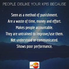 What is the purpose and impact from your KPIs to the people? Do you measure that also?  Here is some of the key reasons people dislike the kpi's or metrics set for them.   Never forget the full narrative when in leadership and consider accountability  empathy  motivation and emotional intelligence.....   We help solve these challenges for you.  Contact us via the link in our bio.