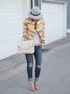 GiGi New York | Suburban Faux-Pas Fashion Blog | Ivory Hayden Satchel #Spring