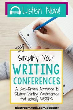 Conduct writing conferences with purpose after listening to this brand new podcast episode! Listen and find out how to improve writing conferences to have a clear structure and purpose that actually improves student writing. Tips and strategies for writing conferences include focusing on the student, simply the strategies taught, create a schedule, and MUCH MORE! Listen and learn about improving writing conferences with a simple, goal-driven approach for your 3rd, 4th, and 5th grade students. New Vocabulary Words, Vocabulary Practice, Readers Workshop, Writer Workshop, Writing Goals, Writing Tips, Elementary Teacher, Upper Elementary, Writing Conferences