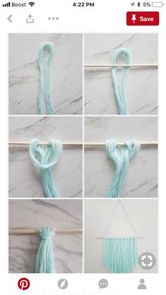 How to make a simple DIY wall hanging with yarn - A Q .- Wie erstelle ich eine einfache DIY Wandbehang mit Garn – A Quick & Easy DIY – How to make a simple DIY wall hanging with yarn – a quick & easy DIY – - Pot Mason Diy, Mason Jar Crafts, Mur Diy, Diy Simple, Yarn Wall Hanging, Wall Hangings, Diy Hanging, Hanging Wall Letters, Wall Hanging Crafts