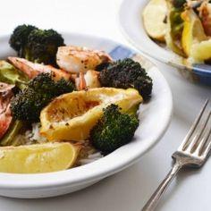Roasted Spicy Shrimp & Broccoli #foodgawker