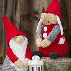Home Sweet Home Idehæfte/opskrift nr. Christmas Gnome, Christmas Knitting, Christmas Stockings, Christmas Crafts, Crochet Christmas Decorations, Holiday Crochet, Xmas Ornaments, Diy Crochet And Knitting, Crochet Dolls
