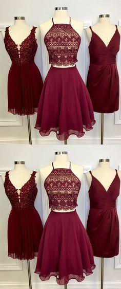short burgundy homecoming dresses, 2018 homecoming dresses, cheap homecoming dresses, party dresses