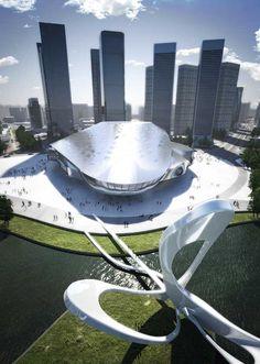 Dalian International Conference Center I    design by COOP HIMMELB(L)AU