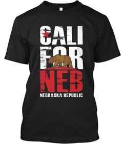 For all of the Nebraska fans in the sunny state of California, this twist on the classic state flag shirt is for you.