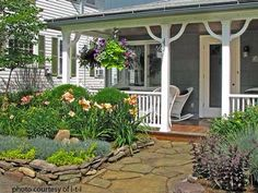 Veranda and flower designs
