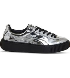 """How To Get Your Hands On Rihanna's Sold-Out Creepers #refinery29  http://www.refinery29.com/puma-creepers-best-sellers#slide-2  Everyone needs a metallic shoe.Puma Basket platform metallic-leather trainers, $91, available at <a href=""""http://www.selfridges.com/US/en/cat/puma-basket-platform-metallic-leather-trainers_726-10036-2566894349/?previewAttribute=Silver+metallic&_$ja=tsid:32619