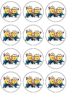 Edible Image cupcake toppers of children's characters. Edible Pictures printed on wafer paper - ABC Edible Cake Art