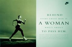 Runner Things #1852: Behind every great man is a woman who's about to pass him.