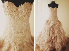 I would absolutely DIE for a wedding dress like this!!! :)))
