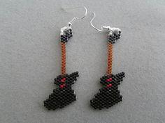 Guitar Earrings in Delica seed beads on Etsy, $20.00