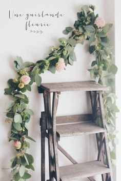 Diy wedding arch flowers floral garland new ideas Floral Garland, Flower Garlands, Rose Garland, Green Garland, Hanging Garland, Leaf Garland, Flower Backdrop, Deco Floral, Floral Design