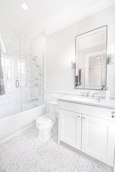 Beautiful bathroom decor tips. Modern Farmhouse, Rustic Modern, Classic, light and airy master bathroom design some a few ideas. Master Bathroom makeover a few some ideas and master bathroom remodel recommendations. Bathroom Renos, Bathroom Flooring, Bathroom Renovations, Dyi Bathroom, Bathroom Tubs, Bathroom Hardware, Bathroom Inspo, White Vanity Bathroom, Bathroom Showers