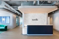 Futurespace designed the offices of real estate company Savills, located in Sydney, Australia. Your workplace can say a lot about you – about your values, your brand and what your… Lobby Reception, Reception Counter, Reception Areas, Office Reception Area, Autocad, Office Lobby, Office Entrance, Entrance Halls, Cove Lighting