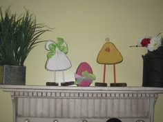 Chicks Bunny and Egg set Easter Decor Spring by allysatticcrafts, $20.00