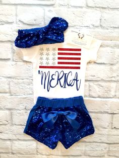 Baby Girl Clothes, 'Merica Baby Girl Shirts ,'Merica Shirts, Fourth Of July Shirts, Girls Fourth Of July Shirts, Fourth Of July Clothes - BellaPiccoli